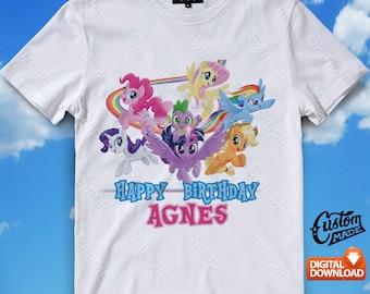 My Little Pony Iron On Transfer, My Little Pony Birthday Shirt DIY, My Little Pony Shirt Designs, My Little Pony Printable, Digital Files