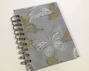 Butterfly A6 Fabric Hardcovered Notebook
