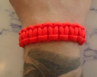 Orange survival bracelet