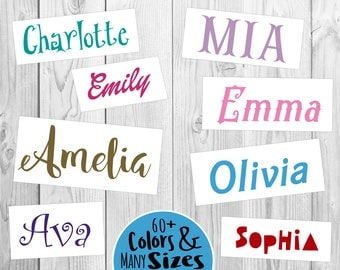 Custom Name Sticker | Vinyl Decal | FREE SHIPPING | Many colors & sizes to choose | Phones Laptops Yeti and more!