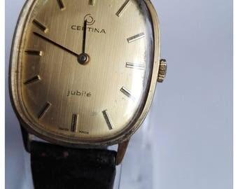 Certina Jubilé Swiss Made gold-coloured Watch