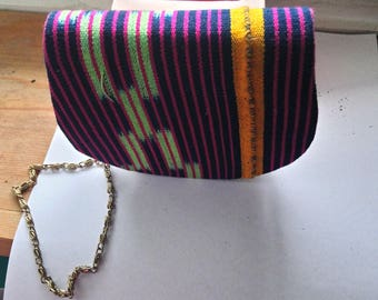 Handmade small bag made in African print