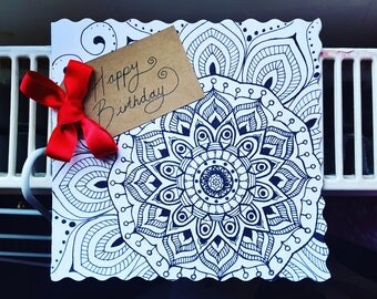 Patterned Birthday Card