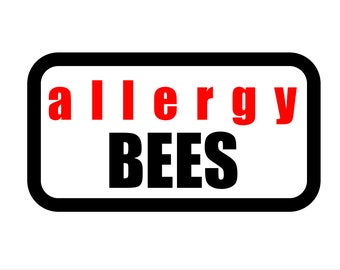 Medical Patch - ALLERGY BEES - Embroidered
