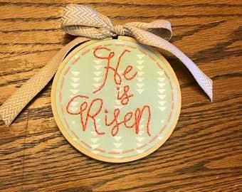 He is Risen Small hoop