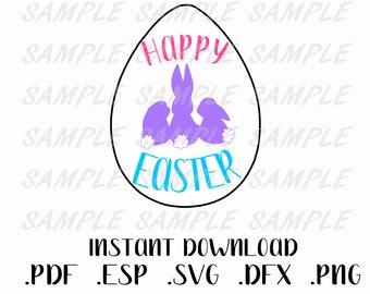 Happy Easter svg, Bunny SVG, Easter Egg svg, Easter Bunny, Easter SVG, Easter dxf, Easter bunny SVG, Bunny Cut file, Egg svg, svg for easter