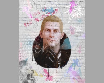 Cullen Rutherford Lion of the Inquisition Graffiti Art Dragon Age Inquisition