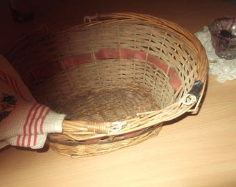 basket or vintage wicker basket