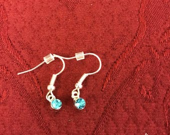 Aqua blue stone earrings