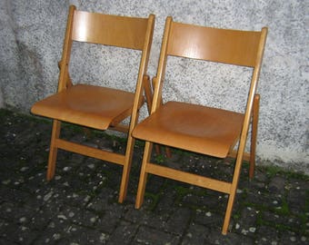 Vintage folding Chairs Cinema/Theater 60s