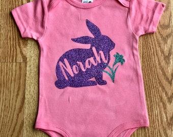 Easter Bodysuit, Baby Girl Easter Shirt, Easter Bunny Shirt