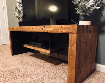Wood TV/Console Stand With Storage