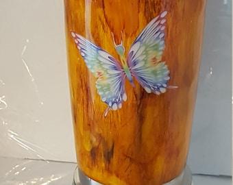 Woodgrain with Butterflies