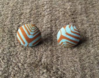 African stud earrings Ankara button earrings fashion jewellery african jewellery ethnic stud earrings wax print button earrings