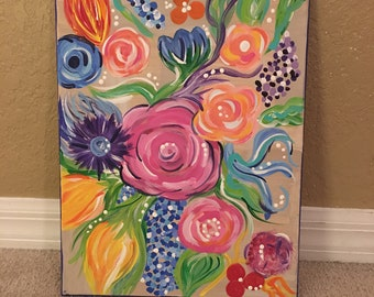 Floral 11x14 Canvas