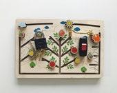 Busy Board - Forest Gift for Kids  - Boy Toddler - 1st Birthday Gift - Fine Motor Skills - Montessori Toys - Kids Toys
