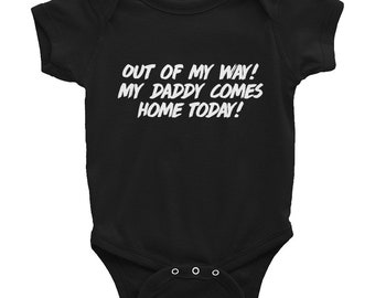 Oilfield Daddy Homecoming Outfit Infant Bodysuit