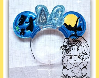 Child forever LAND Kids Clock (3 Piece) Mr Miss Mouse Ears Headband ~ In the Hoop ~ Downloadable DiGiTaL Machine Emb Design by Carrie