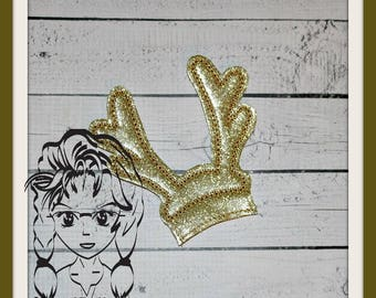 ReINDEER ANTLeRS Center (Add On ~ 1 Pc) Mr Miss Mouse Ears Headband ~ In the Hoop ~ Downloadable DiGiTaL Machine Embroidery Design by Carrie