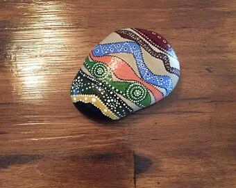 Aboriginal Dot Art Hand Painted Stone