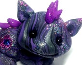 "OOAK Purple Nebula Galaxy Dragon Trollfling Troll ""Apollo"" by Amber Matthies"