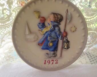 1972 Hummel Commemorative Plate Hear Ye hear Ye Collectible
