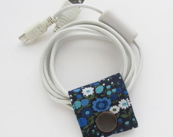 Small Cord Keeper | Cord organizer holder for small cords like USB cables for charging phones and or cameras, keyboard and mouse cords, etc.