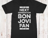 Bon Jovi Fan - Youth Small Black T-Shirt - Custom Artwork
