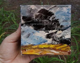 Small Painting, Original Landscape Painting, Direct from artsit studio, GA USA, Winjimir, Home, Office, Decorating, Painting, Wall Art, Gift