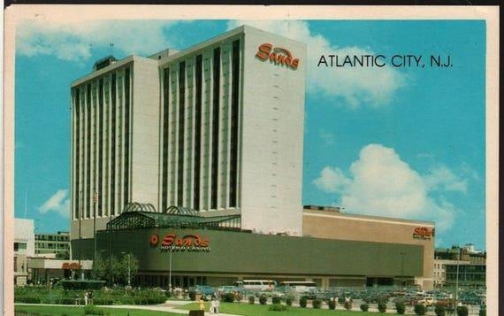 Sands Hotel & Casino - Atlantic City, New Jersey - Vintage Souvenir Postcard