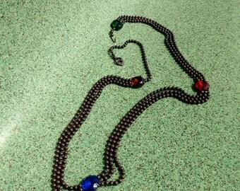 Vintage 1960s Belt Boho Chain Jeweled 60s Accessories W29 to W36