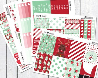 Christmas Planner Sticker Kit, December Weekly Stickers, for use in Erin Condren Life Planner™, Happy Planner, Travelers Notebook, Bujo
