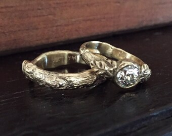 Leaf and branch wedding set