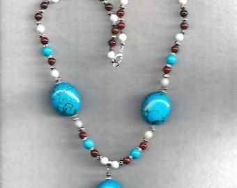 ON SALE Gemstone Necklace