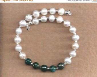 ON SALE Pearl & Fancy Jasper Bracelet,Pearl Bracelet,Fancy Jasper Bracelet