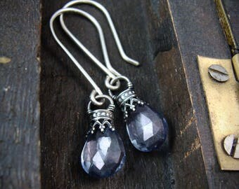 into the mystic ... blue mystic quartz earrings ...