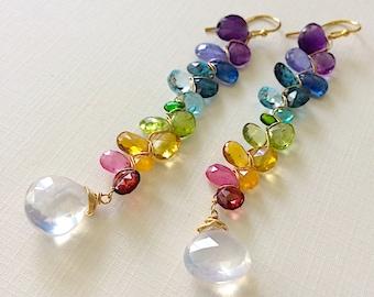 Gemstone Spectrum Earrings