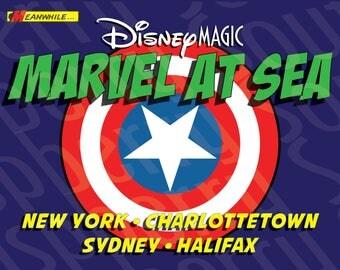 Disney Magic Marvel at Sea Canada Cruise Magnet 5x7