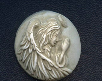 Back stock sale. Faux Marble Polymer Clay Angel  Cab Un drilled ANG 5