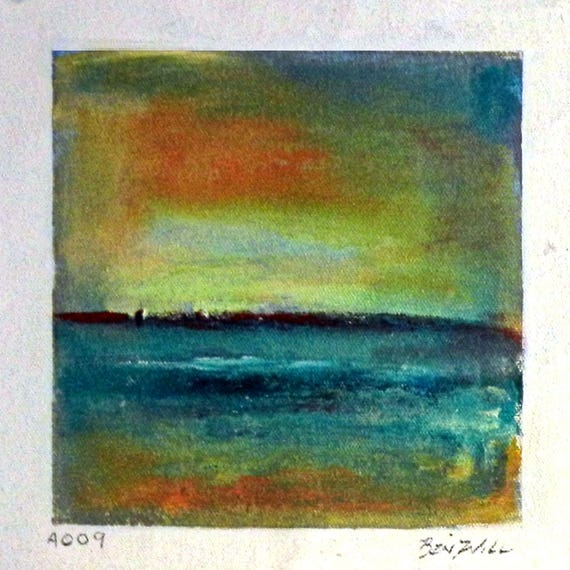 Daily Painting  A009 Small Abstract Study Painting Artwork by BenWill