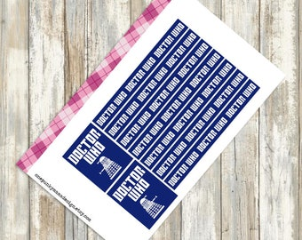 Doctor Who Stickers for Erin Condren (ID404)