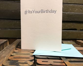 It's Your Birthday, Get Your Groove On Letterpress Card - Individual Card