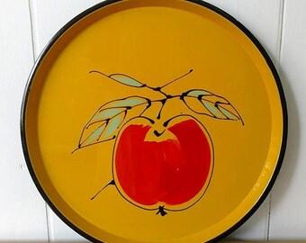 LOVE SALE vintage fruit tray Japan yellow