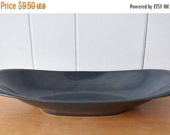 LOVE SALE vintage gray speckled oval bowl Boontonware