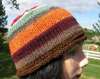 Knit Hat, Alpaca Wool Beanie for Men or Women, Inspired by Jerry's hat in Twin Peaks