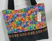Laurel Burch Cats FABRIC Fantastic Felines purse tote bag