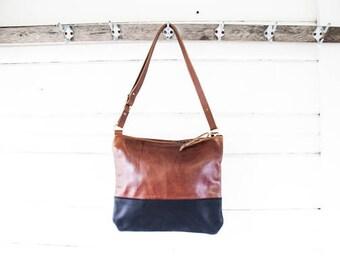 Small Drew Leather Crossbody Bag