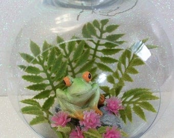 SALE 20% MINIATURES Frog ornament planters terrariums or table top decoration