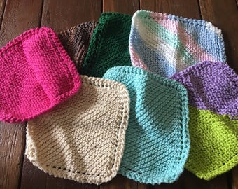 Vintage crocheted wash cloths handmade reusable cleaning washcloths