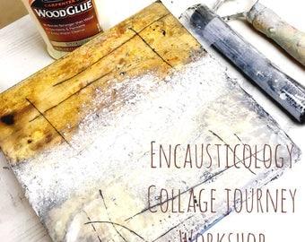 ENcausticology Collage Online Encaustic Painting Techniques Workshop Tutorial